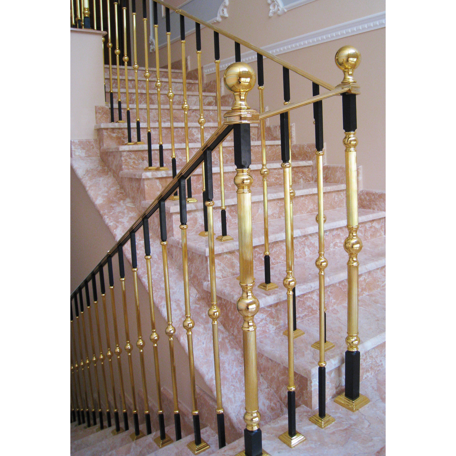 Grand Forge grand forge collections | railing post and balusters - gold, crystal