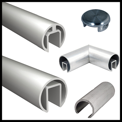 Extruded Aluminum Top Rail and Accessories
