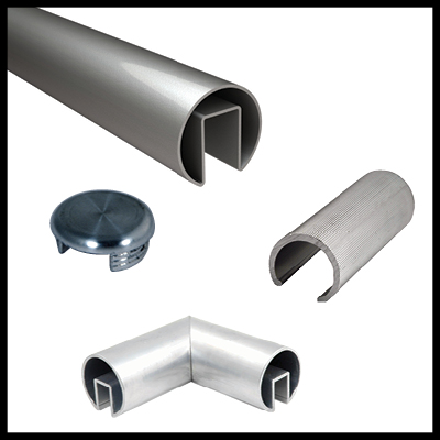 Type 316 Stainless Steel Roll Formed Top Rail and Accessories