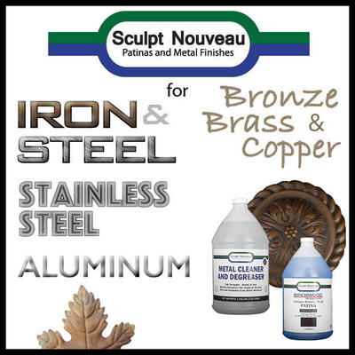 Sculpt Nouveau Patinas and Metal Finishes