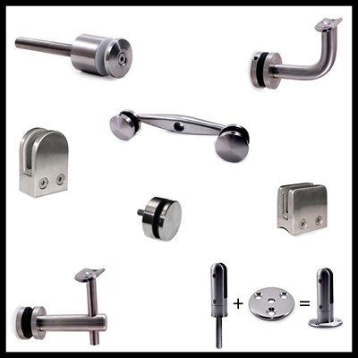 Glass Mount Brackets, Clips and Clamps