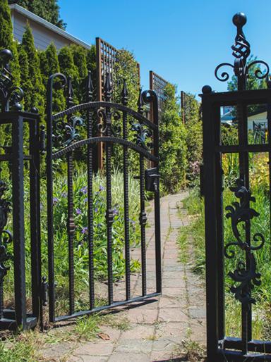 Ornamental Iron Garden Swing Gate